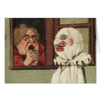 Tarjeta del susto de Halloween del vintage