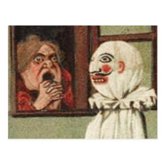 Tarjeta del susto de Halloween del vintage Postal