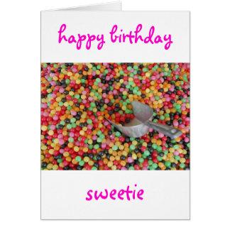 Tarjeta del Sweetie del feliz cumpleaños