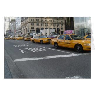 Tarjeta del taxi de NY