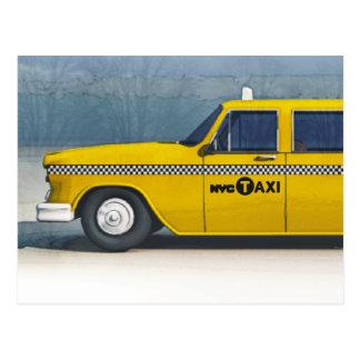 Tarjeta del taxi postal