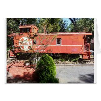 Tarjeta del tren (espacio en blanco dentro)