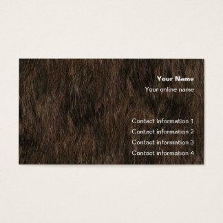 Tarjeta del truco de la piel del oso/