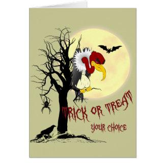 Tarjeta del truco o de la invitación del halcón
