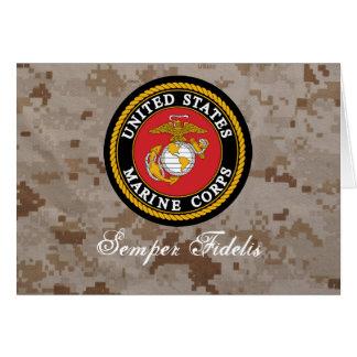 Tarjeta del USMC Digital Camo Semper Fidelis