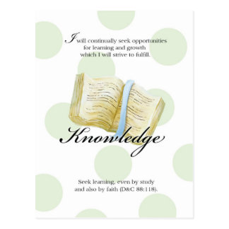 Tarjeta del valor de LDS YW - conocimiento Postal