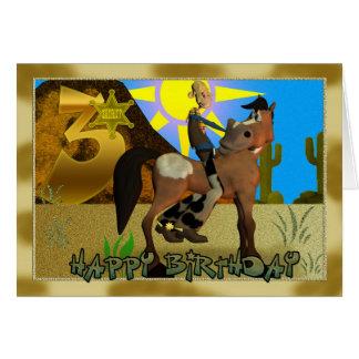 Tarjeta del vaquero del feliz cumpleaños