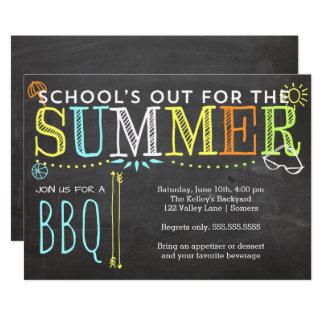 Tarjeta Del verano del fiesta del Invitación-School el Bbq