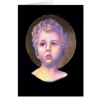 Tarjeta del vintage de Jesús del niño y raro