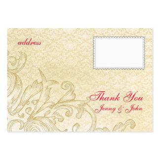 Tarjeta del vintage gracias plantillas de tarjetas personales