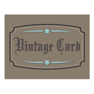 Tarjeta del vintage postal