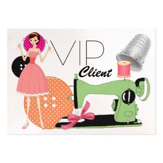 Tarjeta del VIP de la moda de la costurera - SRF Tarjetas De Negocios