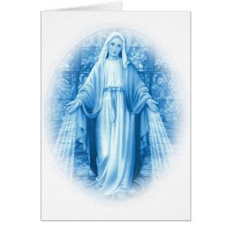 Tarjeta del Virgen María