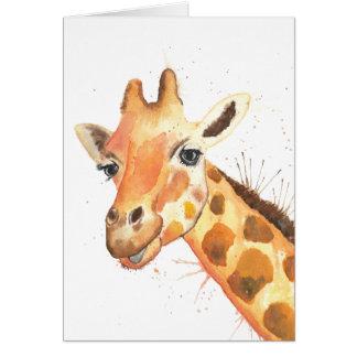 Tarjeta del Watercolour de la jirafa