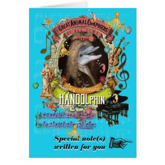 Tarjeta Delfín animal del compositor de Handolphin de la