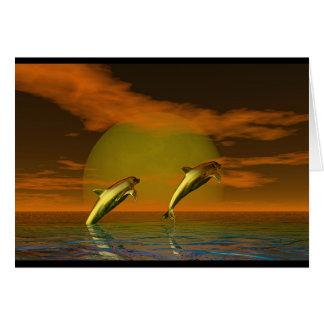 Tarjeta Delfínes