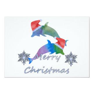 Tarjeta Delfínes del navidad