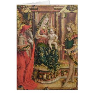 Tarjeta Della Rondine de Madonna del La, después de 1490