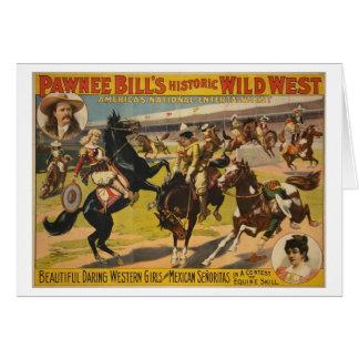 Tarjeta Demostración del oeste salvaje de Bill del Pawnee