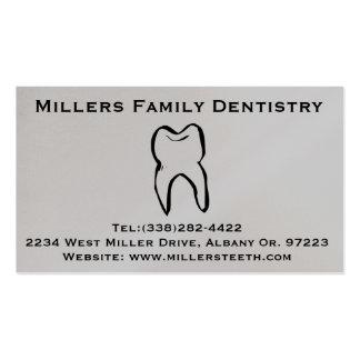 Tarjeta dental del negocio y de la cita del tarjetas de visita