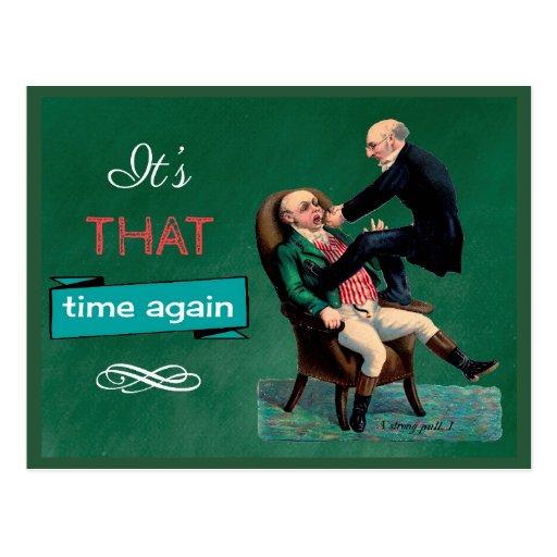 Tarjeta dental divertida del recordatorio de la tarjetas postales