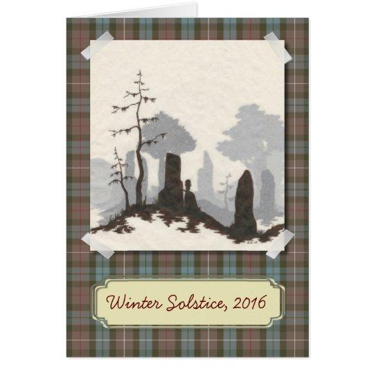 Tarjeta derecha del solsticio/del día de fiesta de