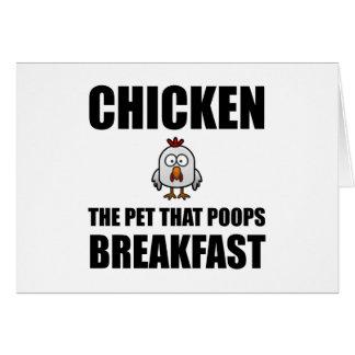 Tarjeta Desayuno del impulso de los pollos