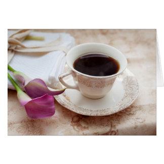 Tarjeta Descanso para tomar café