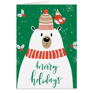 Tarjeta Deseándole el navidad mismo de un Beary