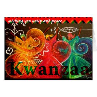 Tarjeta deseándole la unidad y la paz… Kwanzaa