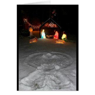 Tarjeta Deseándole navidad bendecido