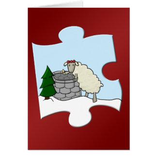 Tarjeta Desear el pedazo de la oveja