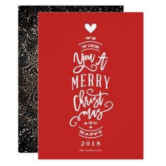 Tarjeta Deséele las Felices Navidad año feliz ninguna