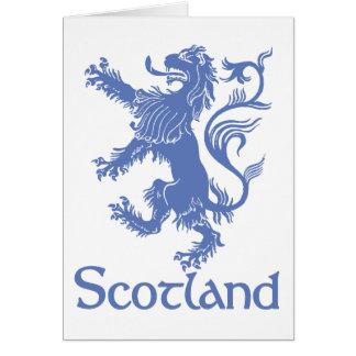 Tarjeta desenfrenada del león de Escocia, herencia