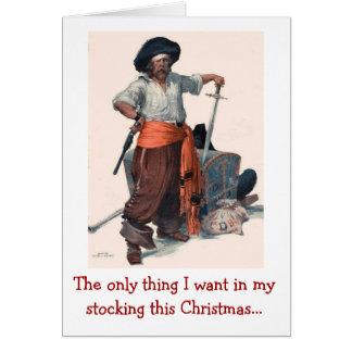 Tarjeta Deseo del navidad del pirata