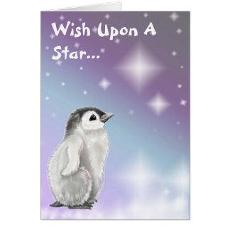 Tarjeta Deseo sobre una estrella…