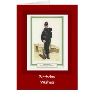 Tarjeta Deseos del cumpleaños, 1903, policía RIC