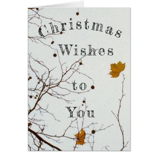 Tarjeta Deseos del navidad