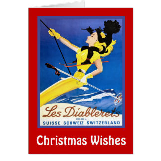 Tarjeta Deseos del navidad, diablerets de Les, Suiza
