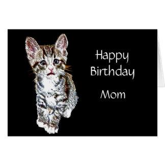 Tarjeta Deseos especiales de encargo del gatito de la mamá