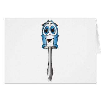 Tarjeta Destornillador Phillips azul