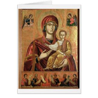 Tarjeta Detalle de Madonna y del niño del Iconostas