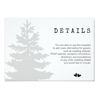 Tarjeta Detalles del boda del bosque del arbolado de la