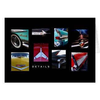 Tarjeta Detalles del coche de carreras