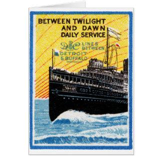 Tarjeta Detroit 1910 al buque de vapor del búfalo