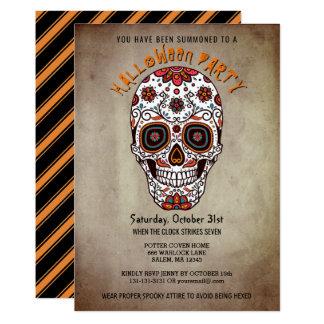 Tarjeta Día brillante del cráneo del azúcar del fiesta de