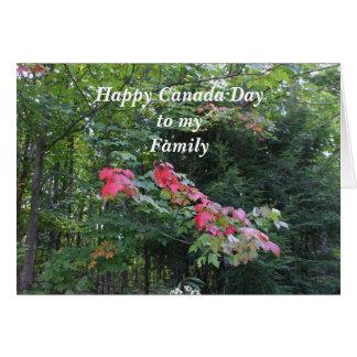 Tarjeta Día de Árbol-Canadá del arce