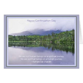 Tarjeta Día de continuación feliz: Celebración del viaje