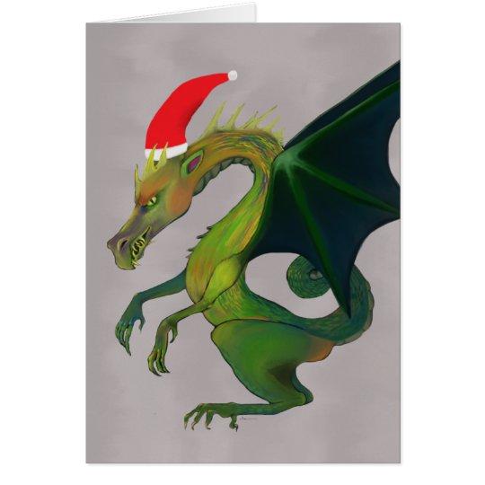Tarjeta Día de fiesta alegre del dragón