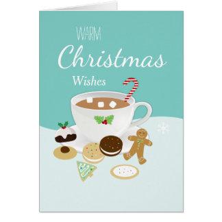 Tarjeta Día de fiesta de las galletas del navidad y del